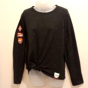 Hatley Black Sweater with White Flecks, Size XL